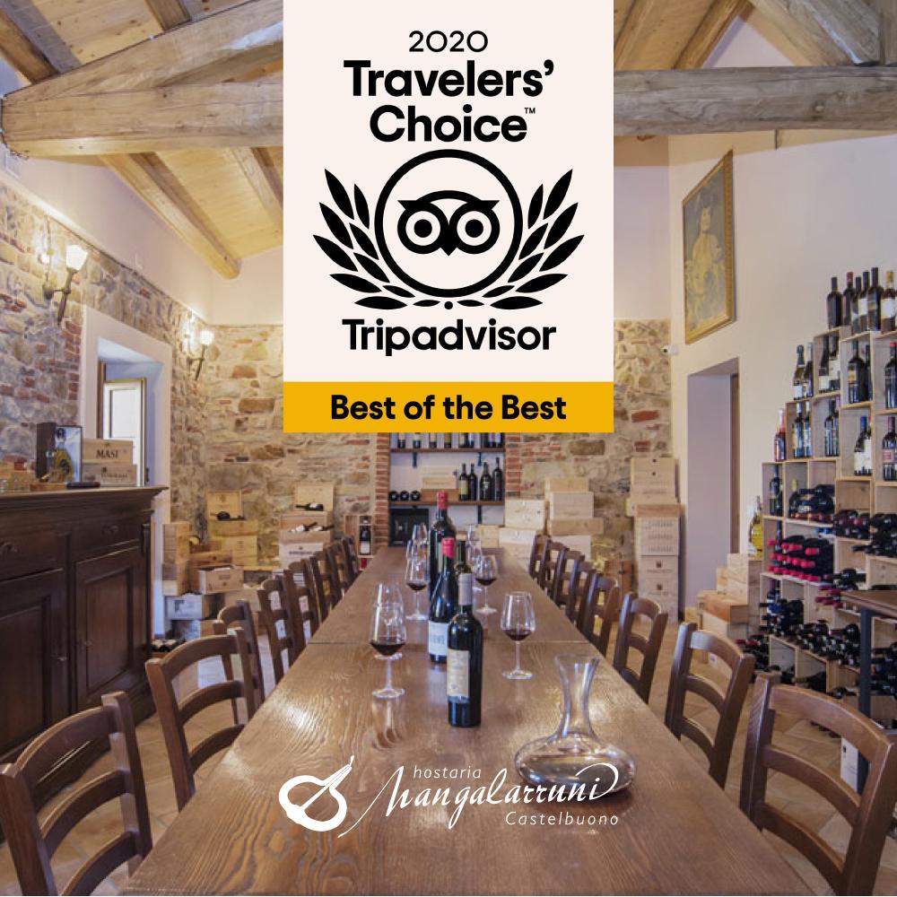 Vinto il premio Travellers' Choice 2021
